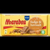 Marabou マラボウ ファッジ and シーソルト 板チョコレート 185g スゥエーデンのチョコレートです