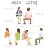 ファミリーイラスト (EPS , PNG )   fa_022