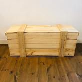 梱包木箱 Lサイズ 1箱 / 梱包箱 木箱 ボックス ウッドボックス 輸送箱 弾薬ケース 弾薬箱 ダイナマイト箱 爆薬箱