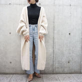 OVER KNIT GOWN COAT