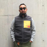 5656WORKINGS/HOLIDAY BOAFLEECE VEST_CHARCOAL GRAY