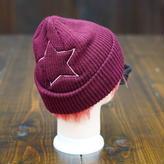 【完売】Big Star Knit Cap/ビッグスターニットキャップ(Burgundy/バーガンディ)