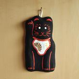 壁飾り 招き猫 黒