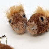 羊毛フェルト 与那国馬 顔バージョン (ヨナグニウマの毛混合ver)
