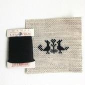 クロスステッチ 針山キット 黒の糸
