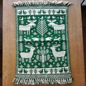 ヤノフ村の織物 タペストリー 森の中の動物 #999