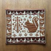 ヤノフ村の織物 クッションカバー 森の中のリス(41×37cm) #1270