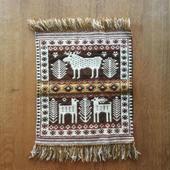 ヤノフ村の織物 タペストリー 森の中の鹿 #1156