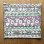 ヤノフ村の織物 クッションカバー 鳥と植物文様(41×37cm) #1274