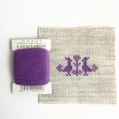 クロスステッチ 針山キット 紫の糸