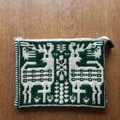 ヤノフ村の織物 ポーチ 鹿と鳥 #1263