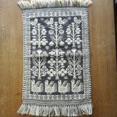 ヤノフ村の織物 タペストリー 鳥と花 #1098