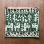 ヤノフ村の織物 クッションカバー 鹿と鳥(41×37cm) #1275