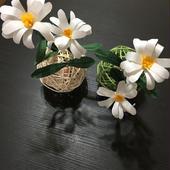 和紙の花 マーガレットのラタンボール