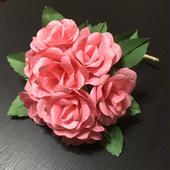 和紙の花 薔薇のラウンドブーケ