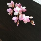 和紙の花  桜コサージュ