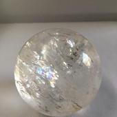 水晶 丸玉レインボー