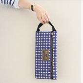予約college bag dots blue