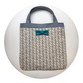 small tote summer fake knit grey