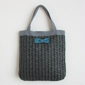 medium tote summer fake knit black