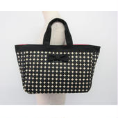 town mini tote dots black