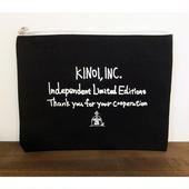 KINOI,INC. 独立記念ポーチ(Blackのみ)