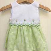 【USED】Green Gingham Dress