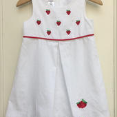 【USED】Strawberry White Dress