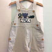 【USED】Animal motif Short Overall