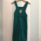 【USED】OLD Design Cow boy motif Green Overall ( Made in U.S.A.)