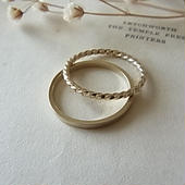 champagne gold ring(8号・10.5号)
