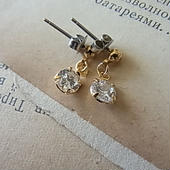 Stainless Gold CZ 5.5mm