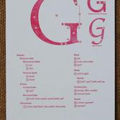 "Letterpress Type Anatomy Postcard ""G"""