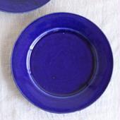 馬酔木 誠(アセビマコト)さんの リム皿 ブルー