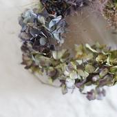 増田由希子さんのリース「鳥の巣」〜秋色紫陽花