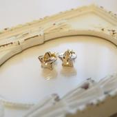 swarovski star pierce(gold)