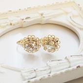 flower bijou earring(シルバーシェード)