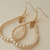 pearl hoop pierce(natural)