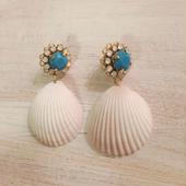 flowerbijou×seashell pierce(turquoise)