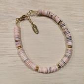 shell×metalparts bracelet(pink)