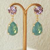 2color bijou pierce(バイオレット×パシフィックオパール)