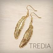 gold feather pierce