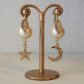 cottonpearl×starmoon charm earring