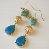 Morocco color pierce(ターコイズ×カリビアンブルー)