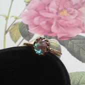 サフィレット(アンティーク)金古美指輪(フリーサイズ)