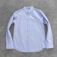 コットンリネンシャツ blue【レディス】