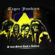"""Tiger Junkies """"D-beat street rock'n rollers"""" LP Limited Black vinyl"""