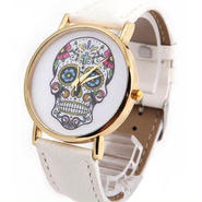 skull flower S/S watch