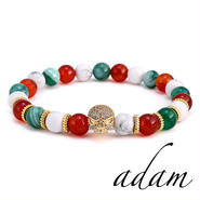 Italian pattern natural stone bracelet