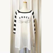【HELLCATPUNKS】ANGEL OR DEVIL ラグランビッグTシャツ